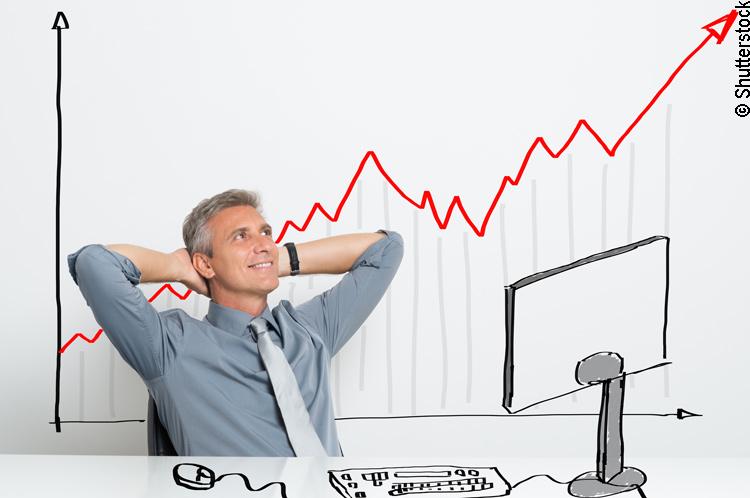 Steigende Aktienkurse an der Börse