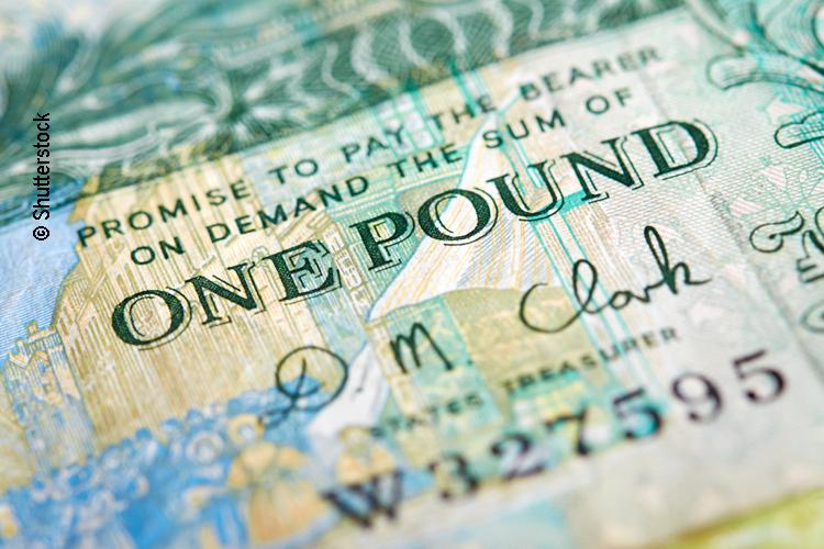 Britische 1 Pfund Sterling Banknote