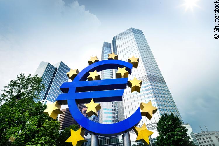 Die Europäische Zentralbank (EZB) in Frankfurt
