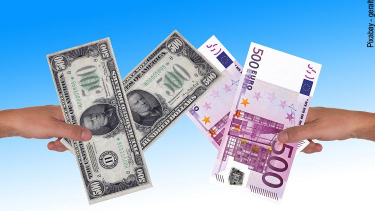 Euro und US Dollar