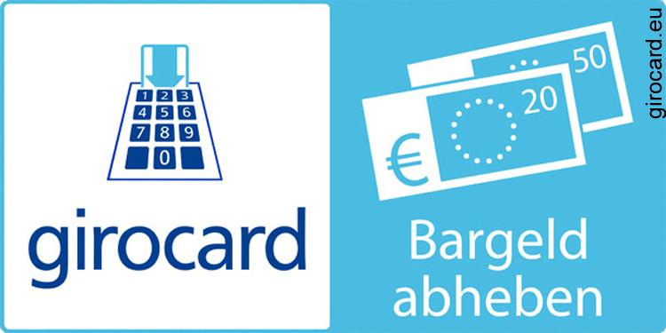 Hinweis auf Geldabheben an der Supermarktkasse mit der girocard