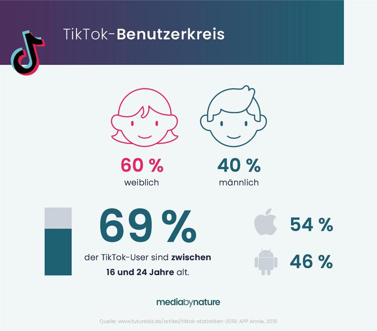 Demografischer Überblick zum TikTok-Benutzerkreis