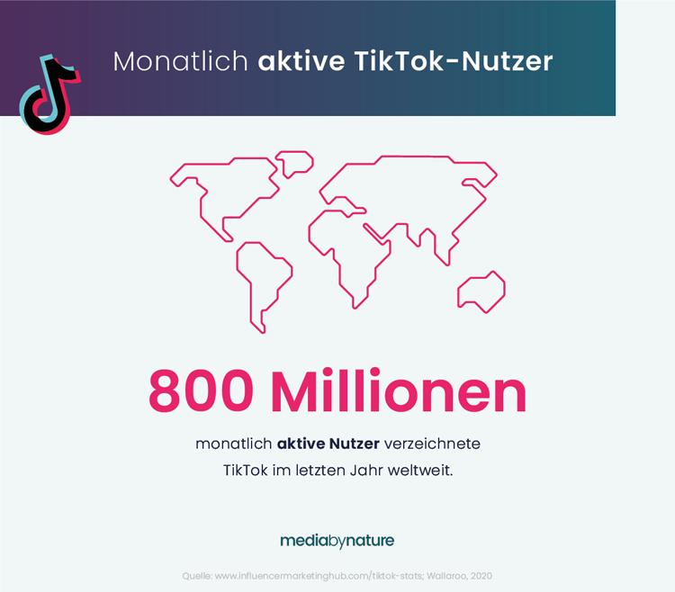 Anzahl der monatlich aktiven TikTok-Nutzer