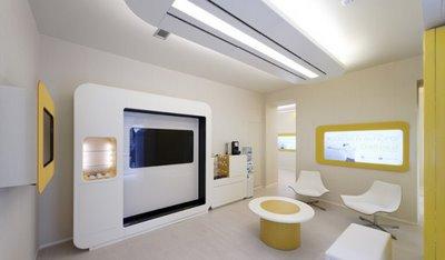 Bankfiliale in futuristischem Design