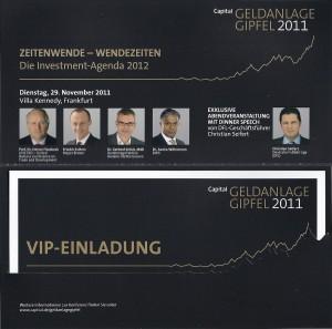 Freikarten für den CAPITAL Geldanlage Gipfel 2011 gewinnen