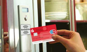 NFC-Chip in der Kundenkarte ermöglicht kontaktloses Bezahlen