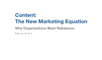 Beim modernen Marketing zählen Inhalte