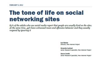 Pew Research Center Studie zur Stimmung innerhalb sozialer Netzwerke