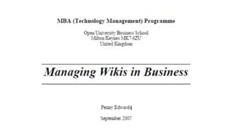 Unternehmens Wikis sind auch für Sparkassen und Banken wichtig