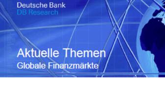DB Research untersucht aktuelle Themen aus dem Bereich Finanzmärkte