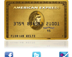 American Express verknüpft Kreditkarte mit den sozialen Netzwerken Twitter, Facebook und Foursquare