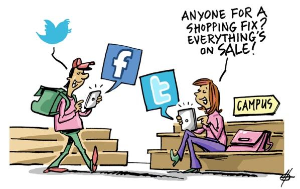 Sozial Digitale Shopper wollen über mobile und digitale Kanäle Meinungen und Erfahrungen austauschen