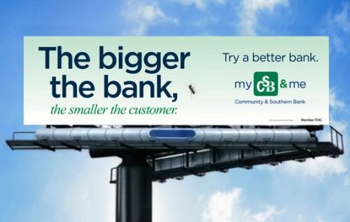 Billboard Marketing einer US Regionalbank zur Neukundengewinnung