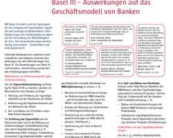 Auswirkungen von Basel III auf das Geschäftsmodell von Banken und Sparkassen