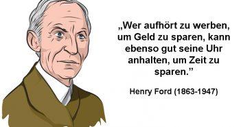Henry Ford Zitat über Nutzen von Werbung