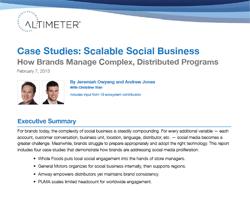Fallstudien, wie große Marken komplexe Social Media Programme managen