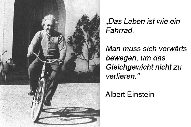 Albert Einstein über Dynamik und Gleichgewicht