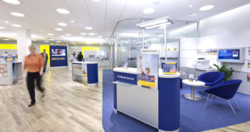 Belebung von Bankfilialen