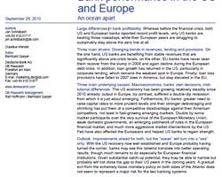 Bankerträge in den USA und Europa im Vergleich