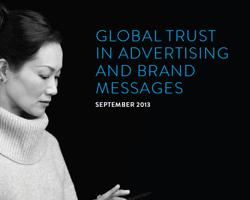 Studie über Vertrauen von Kunden und Konsumenten in Werbung und Markenbotschaften