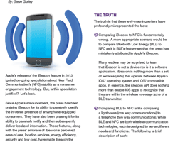 Mobile Technologie: NFC Chip versus BLE