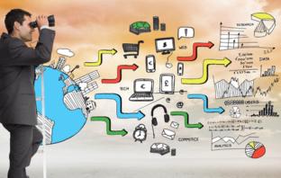 Digitales Marketing spielt sich im stationären und mobilen Internet und auf sozialen Netzwerken ab.