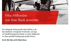 Bankbedarf von Millionären
