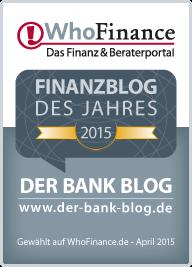 Der Bank Blog ist Finanz Blog des Jahres 2015