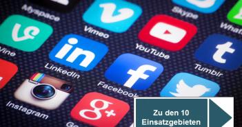 10 Bereiche in für einen Einsatz von Social Media in Unternehmen