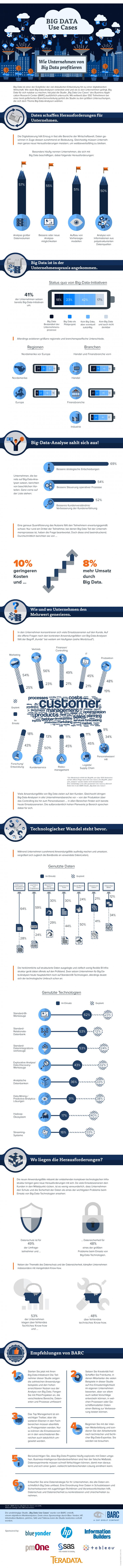 Infografik mit Anwendungsbeispielen für Big Data