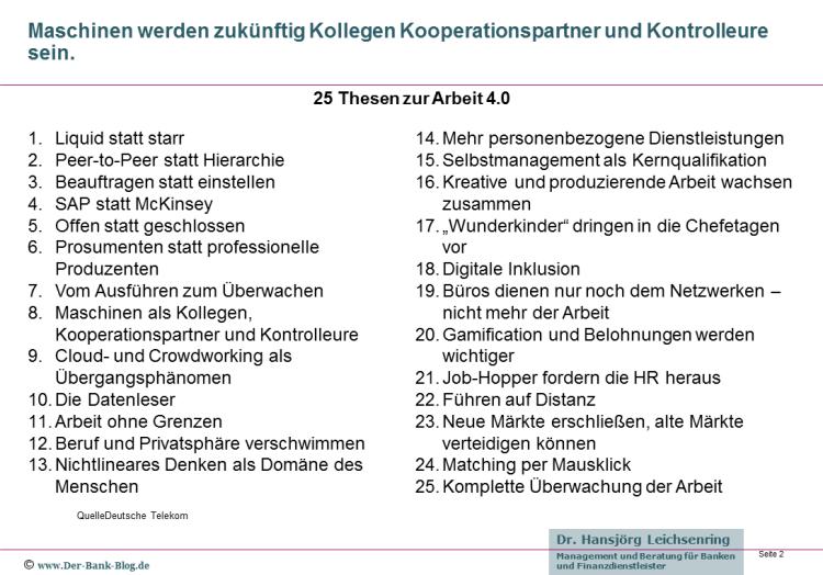 25 Thesen zur digitalen Arbeitswelt der Zukunft