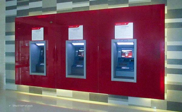 Geldausgabeautomaten in der Filiale der JC Bank China