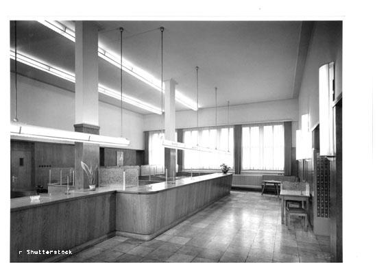 Sparkassen Geschäftsstelle Bergheim 1955