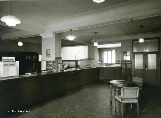 Sparkassen Schalter Zweigstelle Frechen 1955