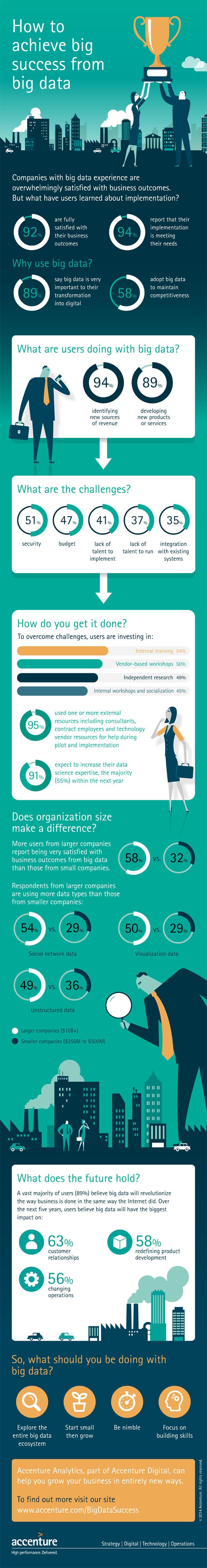 Infografik zur erfolgreichen Nutzung von Big Data