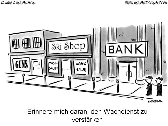 Überprüfung der Sicherheit von Bankfilialen