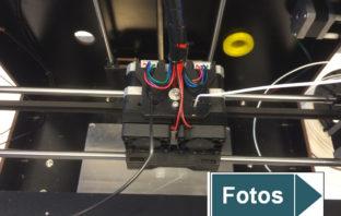 Moderner 3D-Drucker im Einsatz
