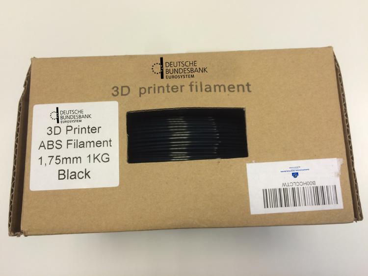 Bundesbank Füllmaterial für 3D-Drucker