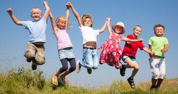 Glückliche Kinder in Deutschland