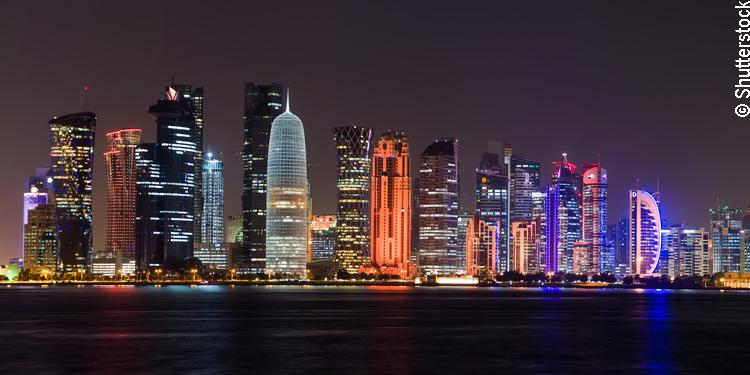 Panorama von Doha, Katar