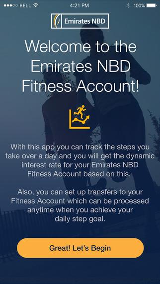 Fitness Banking App von Emirates NBD
