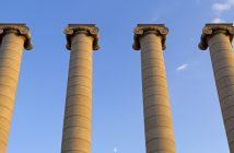 Vier tragende Säulen des Bankgeschäfts