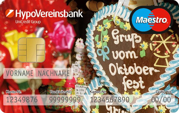 EC-Karte der HypoVereinsbank zum Oktoberfest