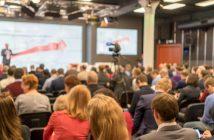 Gute besuchte FinTech Konferenz