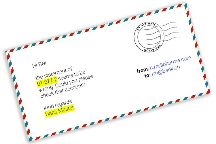 Kunden E-Mail an seine Bank