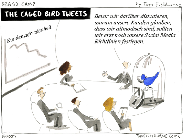 Cartoon: Der eingesperrte Tweet