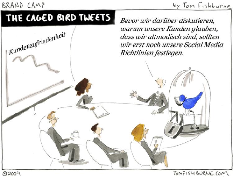 Cartoon: Der eingesperrte Tweet
