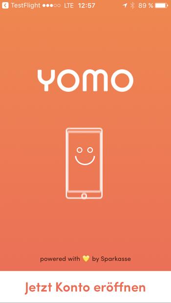 yomo Willkommensbildschirm