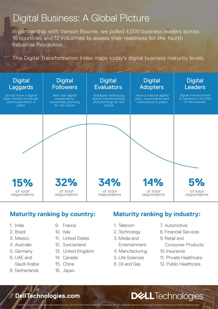 Digitaler Reifegrad – Infografik