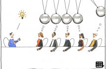 Cartoon: Kreativitäts-Arbeitskreis